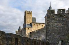 Castillo de Carcasona Foto de archivo libre de regalías