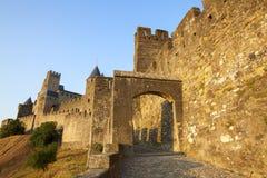 Castillo de Carcasona Imagen de archivo