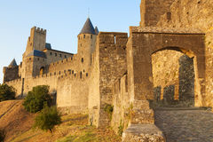 Castillo de Carcasona Imagen de archivo libre de regalías