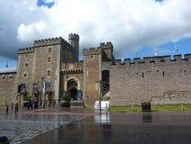 Castillo de Cardiff, País de Gales Foto de archivo
