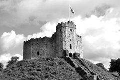 Castillo de Cardiff, País de Gales imágenes de archivo libres de regalías
