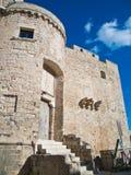 Castillo de Carlos V. Monopoli. Apulia. imagenes de archivo
