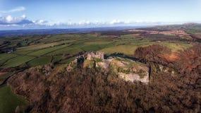 Castillo de Carreg Cennen Imagen de archivo libre de regalías