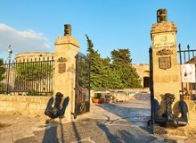 Castillo de Castello Aragonese de Taranto Apulia, Italia Imagen de archivo