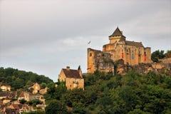 Castillo de Castelnaud foto de archivo