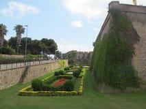 Castillo de Catalunya Montjuïc fotografie stock