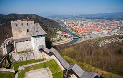 Castillo de Celje, Eslovenia Fotos de archivo