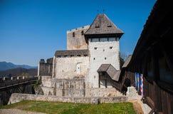 Castillo de Celje, Eslovenia Imagenes de archivo
