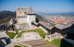 Castillo de Celje, Eslovenia Imágenes de archivo libres de regalías
