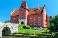 Castillo de Cervena Lhota, Bohemia, República Checa fotos de archivo