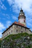 Castillo de Cesky Krumlov Foto de archivo libre de regalías