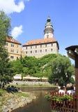 Castillo de Cesky Krumlov Imagen de archivo libre de regalías