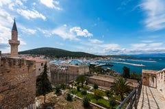 Castillo de Cesme, Esmirna Imagenes de archivo