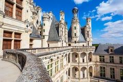 Castillo de Chateau de Chambord, Francia fotografía de archivo