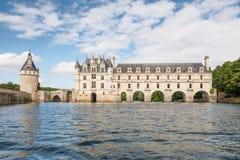 Castillo de Chenonceau, construido sobre el río de Cher, el valle del Loira, Francia imagen de archivo libre de regalías