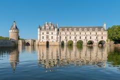 Castillo de Chenonceau, el valle del Loira, Francia imagen de archivo