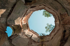 Castillo de Chervonohorod, Ucrania Foto de archivo