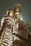 Castillo de Chicago de Night Imagenes de archivo