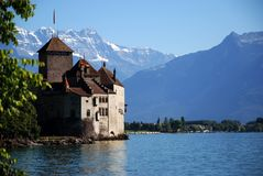 Castillo de Chillon Imagen de archivo libre de regalías