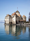 Castillo de Chillon, lago geneva, Suiza Fotos de archivo libres de regalías