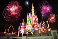 Castillo de Cinderella de Disney Fotografía de archivo libre de regalías
