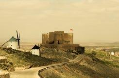 Castillo-De Consuegra, Toledo, Spanien lizenzfreies stockbild