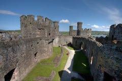 Castillo de Conwy Foto de archivo libre de regalías