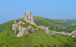 Castillo de Corfe imagenes de archivo