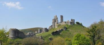 Castillo de Corfe en Dorset fotografía de archivo libre de regalías
