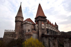 Castillo de Corvin en Hunedoara, Rumania Foto de archivo