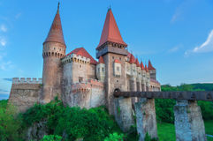 Castillo de Corvin en Rumania Imagen de archivo libre de regalías
