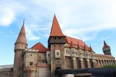 Castillo de Corvin, castillo de Hunedoara imagen de archivo