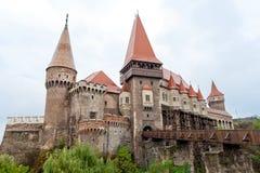Castillo de Corvin (Hunyad Cstle, Hunedoara) Fotos de archivo
