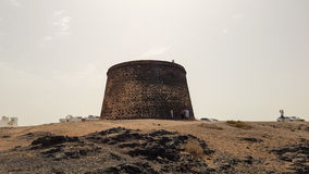 Castillo de Cotillo. Situated at the well known landmark, Castillo de Cotillo which represents El Cotillo's small harbour and remaining fortifications Royalty Free Stock Photography