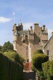 Castillo de Crathes en Escocia Foto de archivo