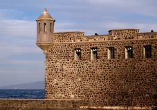 castillo de del felipe morro圣・ tenerife 库存图片