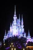 Castillo de Disney Cinderella en la noche Fotografía de archivo libre de regalías