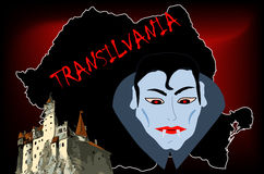 Castillo de Dracula ilustración del vector