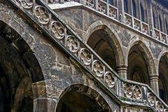 Castillo de Dracula Escala del patio 1 Fotografía de archivo libre de regalías