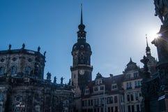 Castillo de Dresden en los rayos del sol imagen de archivo libre de regalías