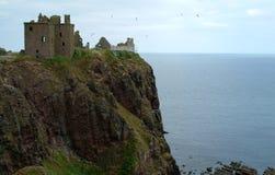 Castillo de Dunnoter, Escocia Fotos de archivo libres de regalías