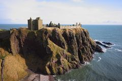 Castillo de Dunnottar, Escocia Foto de archivo libre de regalías