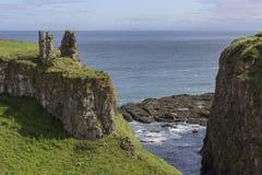 Castillo de Dunseverick - condado Antrim - Irlanda del Norte Fotografía de archivo libre de regalías