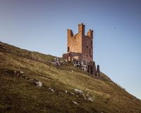 Castillo de Dunstanburgh Fotografía de archivo libre de regalías