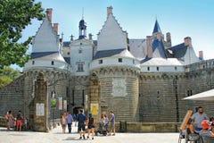 Castillo de duques de Bretaña, Nantes, Francia fotografía de archivo libre de regalías