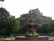 Castillo de Edimburgo fotografía de archivo