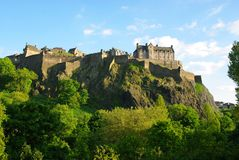 Castillo de Edimburgo Foto de archivo libre de regalías