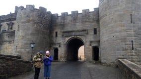 Castillo de Edimburgo del exterior fotografía de archivo