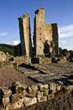 Castillo de Edlingham - Alnwick - Inglaterra Imagenes de archivo
