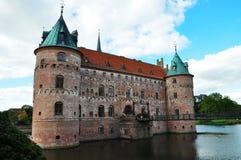 Castillo de Egeskov imagen de archivo libre de regalías